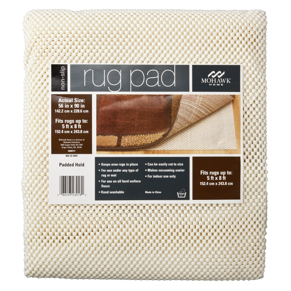 "Image of ""Mohawk Home Better Stay Rug Pad - Ivory (4'8""""x7'6""""), White"""