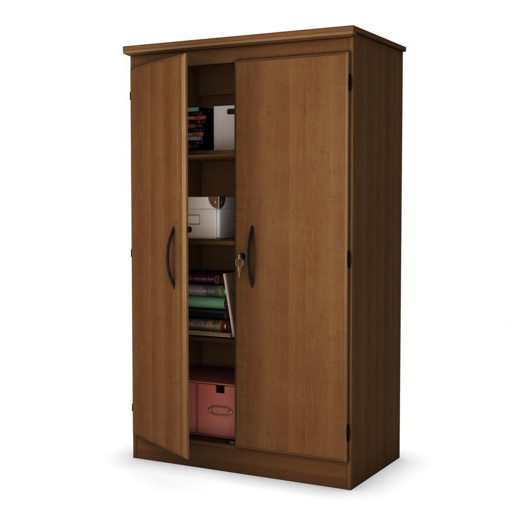 Morgan 2 Door Storage Cabinet Morgan Cherry - South Shore