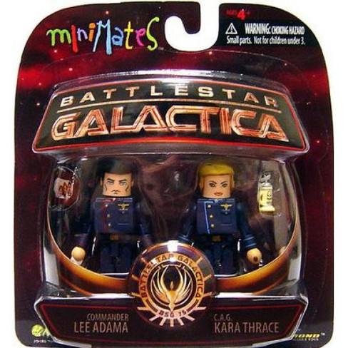 Battlestar Galactica Modern Minimates 2-Pack Series 3 CAG Kara Thrace /& Commander Lee Adama by Diamond Select Diamond Select Toys