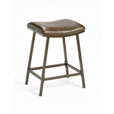 "24"" Saddle Seat with Nested Leg Barstool Metal/Brown Copper - Hillsdale Furniture"