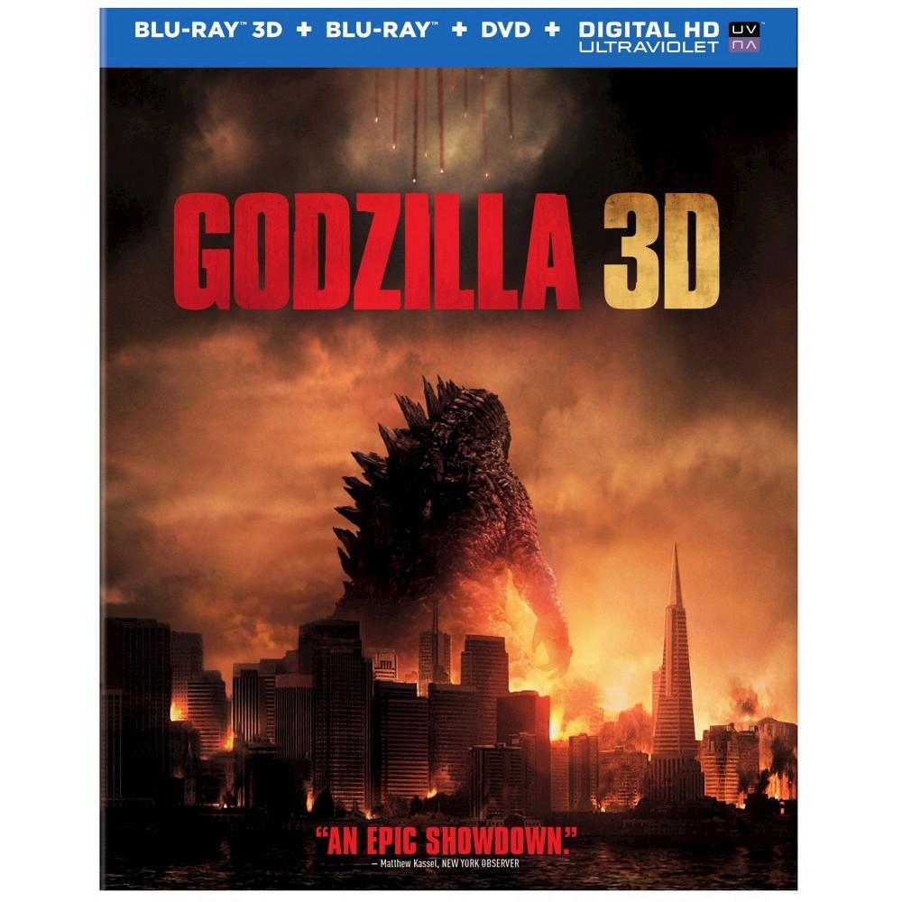 Godzilla 3D [Includes Digital Copy] [Ultraviolet] [3D/2D] [Blu-ray/Dvd]