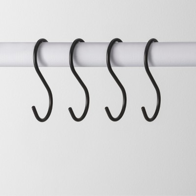 4pk Metal S Hook Hanger Black - Made By Design™
