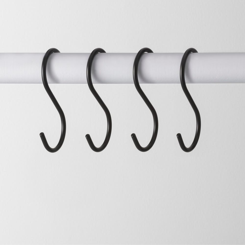 4pk Metal S Hook Hanger Black - Made By Design, Matte Black