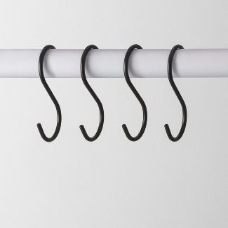 4pk Metal S Hook Hanger Black - Made By Design™