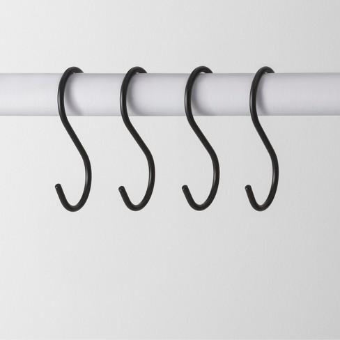 4pk Metal S Hook Hanger Black - Made By Design™ - image 1 of 3