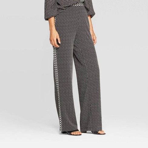 Women's Mid-Rise Wide Leg Trouser - Who What Wear™ Black - image 1 of 3