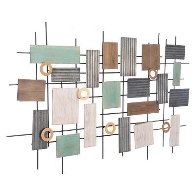 ZM Home 47  Rustic Rectangular Wall Sculpture