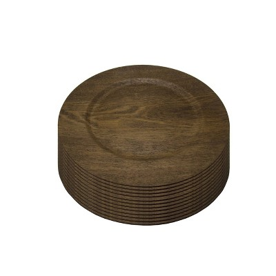 """Gibson Home 13"""" 12pk Wood Feri Chargers"""