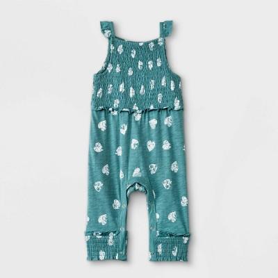 Grayson Mini Baby Girls' Heart Romper - Blue 6-9M
