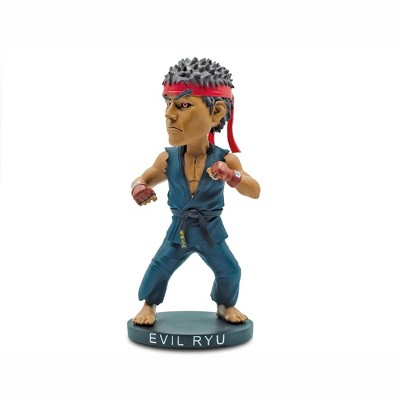 Icon Heroes Street Fighter Evil Ryu 8-Inch Resin Bobblehead Figure   Toynk Exclusive