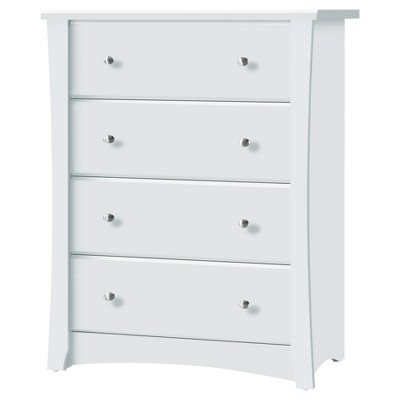 Storkcraft Crescent 4 Drawer Chest Dresser - White
