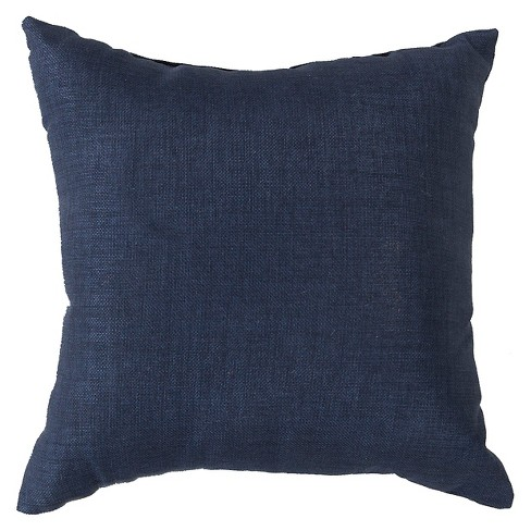 "Navy Strahlhorn Solid Throw Pillow 22""x22"" - Surya® - image 1 of 2"