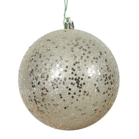 "Vickerman 8"" Champagne Sequin Ball Christmas Ornament - image 1 of 1"