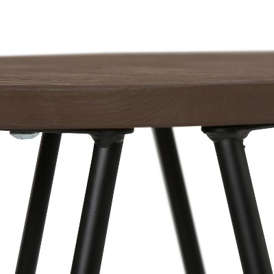 """24"""" Kendall Metal Counter Height Stool With Wood - Wyndenhall : Target"""