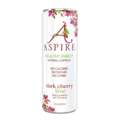 Aspire Dark Cherry Lime Energy Drink - 12 fl oz Can