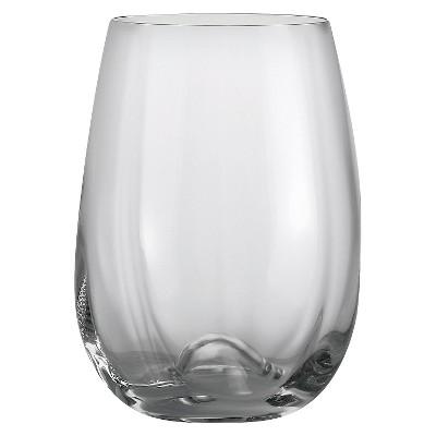 Oneida Grace 6oz Stemware Stemless Wine Glasses - Set of 4