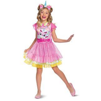 Girls' The LEGO Movie Unikitty Deluxe Halloween Costume L