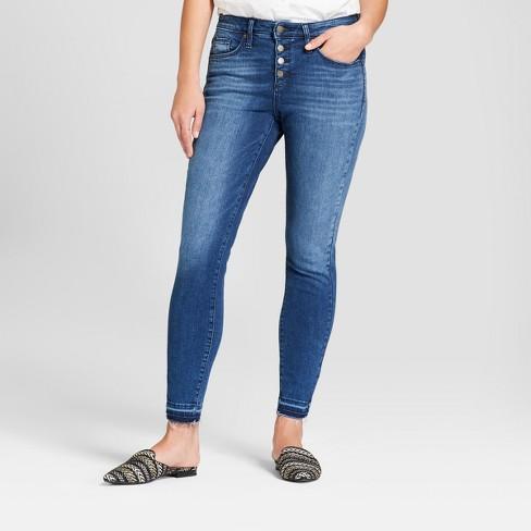 eae70d8c99a3 Women's High-Rise Released Hem Skinny Jeans - Universal Thread™ Medium Wash  : Target