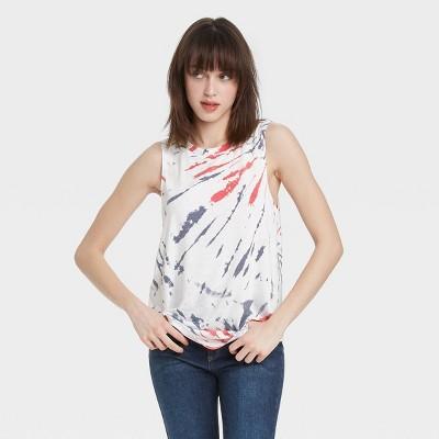 Women's Americana Graphic Tank Top - Tie-Dye