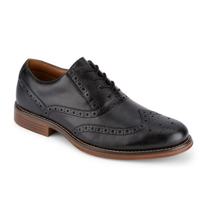 Dockers Mens Thatcher Polished Business Dress Black Wingtip Lace-up Oxford Shoe