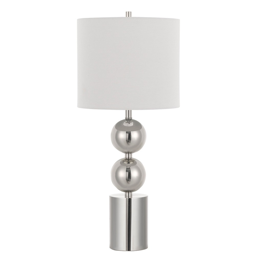 Image of 150W 3 Way Lucena Metal Table Lamp With Fabric Shade - Cal Lighting