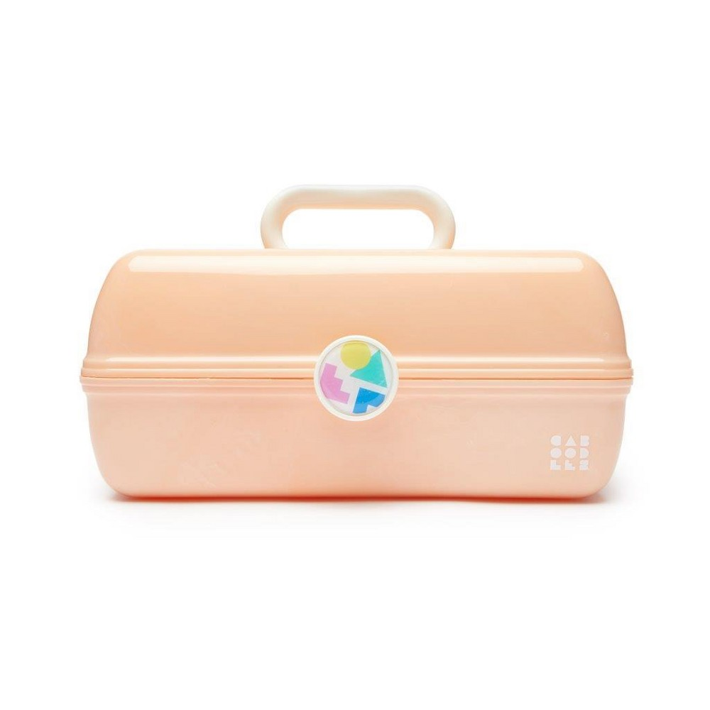 Retro Caboodles On the Go Girl Case Peach Marble