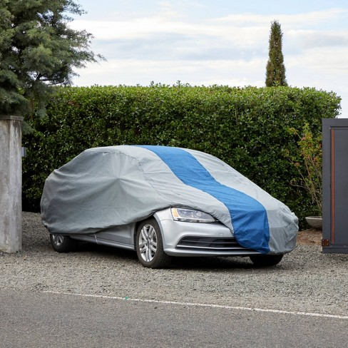 Car Covers Target >> Duck Covers 19 Double Defender Sedan Car Automotive Cover Gray Blue