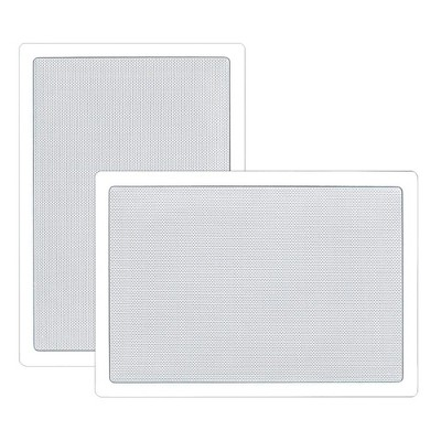 Pyle Home PDIW55 5.25 Inch 150 Watt 2 Way Square Rectangular In-Wall/ In-Ceiling Flush Mounted Stereo Speaker Pair, White