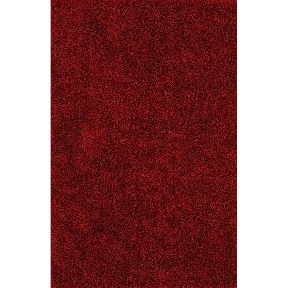 8'x10' Lustrous Shoestring Shag Area Rug Red - Addison Rugs