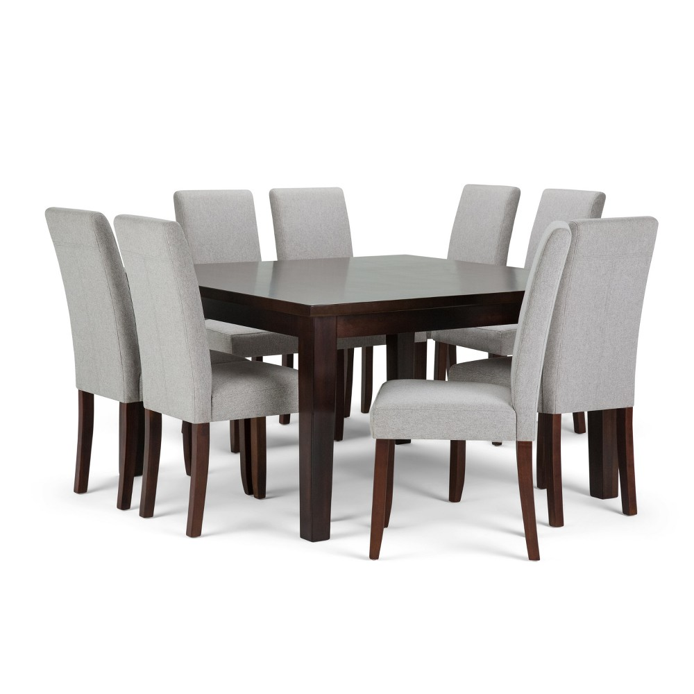 Normandy Solid Hardwood 9pc Dining Set Cloud Gray - Wyndenhall, Cloudy Gray