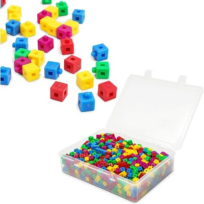 Bright Creations 1000 Pcs Math Counting Blocks, Linking Cubes for Kids, 5 Colors