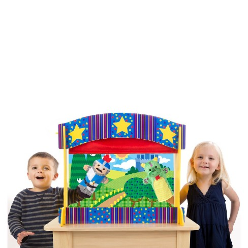 Melissa & Doug® Tabletop Puppet Theater - Sturdy Wooden Construction - image 1 of 3