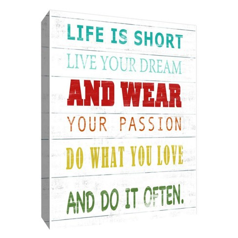 """Life Is Short Decorative Canvas Wall Art 11""""x14"""" - PTM Images - image 1 of 1"""