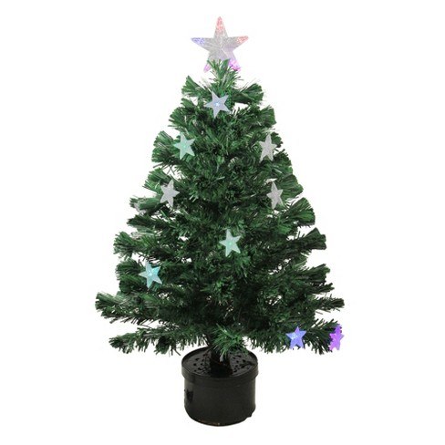Northlight 3' Prelit Artificial Christmas Tree Color Changing Fiber Optic LED - image 1 of 2