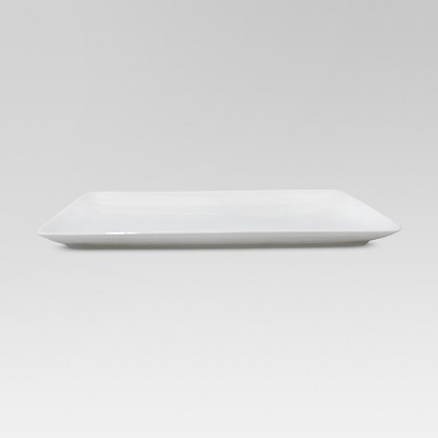 Porcelain Rectangular Platter White 9.5 x15.25  - Threshold™
