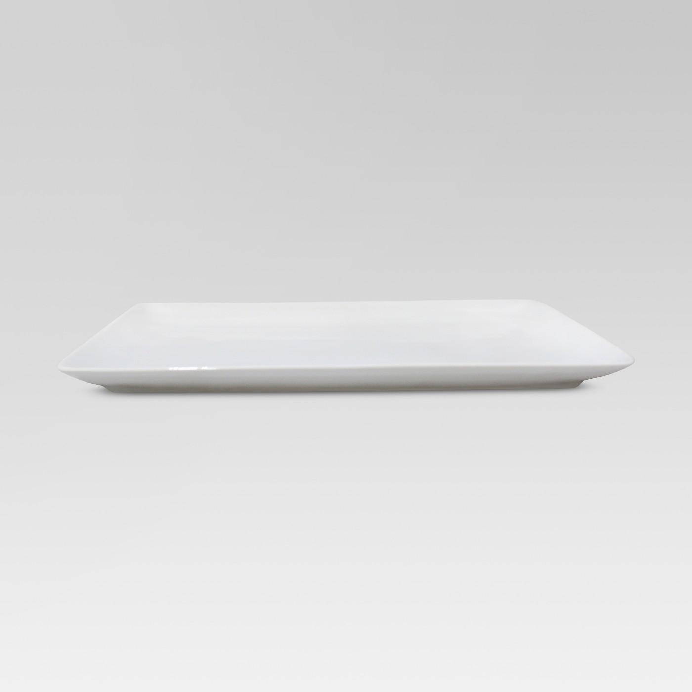 """Porcelain Rectangular Platter White 9.5""""x15.25"""" - Threshold⢠- image 1 of 2"""
