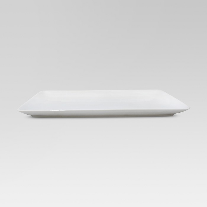 """15.2"""" x 9.6"""" Porcelain Rectangular Platter White - Threshold™ - image 1 of 2"""