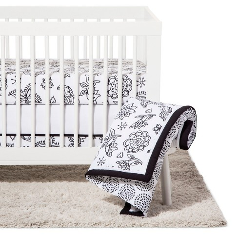 Nojo Crib Bedding Set 8pc Fl