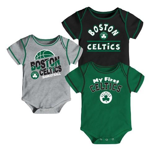 bc5175e83f3 NBA Boston Celtics Boys  Rookie 3pk Body Suit Set   Target