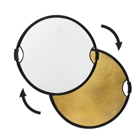 Glow Circular Collapsible Reflector with Handles (22 , Gold/White) - image 1 of 4