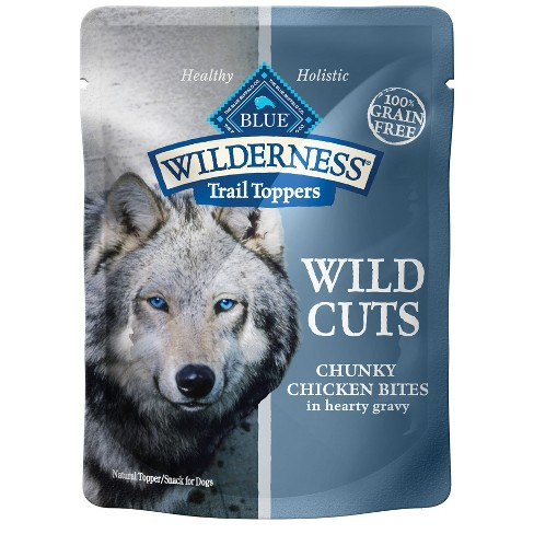 Blue Buffalo Wilderness 100% Grain-Free Wild Cuts Chunky Chicken Bites In Hearty Gravy Wet Dog Food - 3oz - image 1 of 1