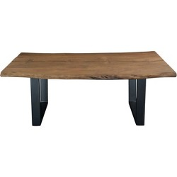 Sequoia Natural Live Edge Dining Table Light Brown - Treasure Trove
