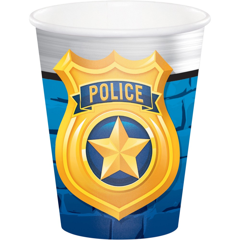 8ct Creative Converting Police Party Cups