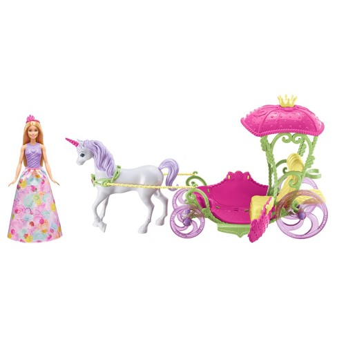 Barbie Dreamtopia Sweetville Carriage and Doll - image 1 of 8