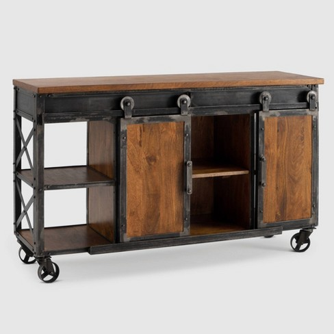 Carnegie Industrial Console Table Brown - RST Brands - image 1 of 4
