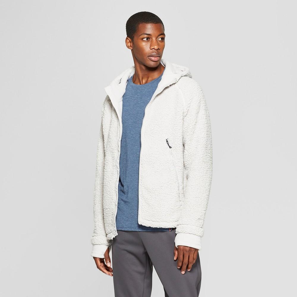 Men's Sherpa Lined Fleece Jacket - C9 Champion Bleached Stone Cream XL