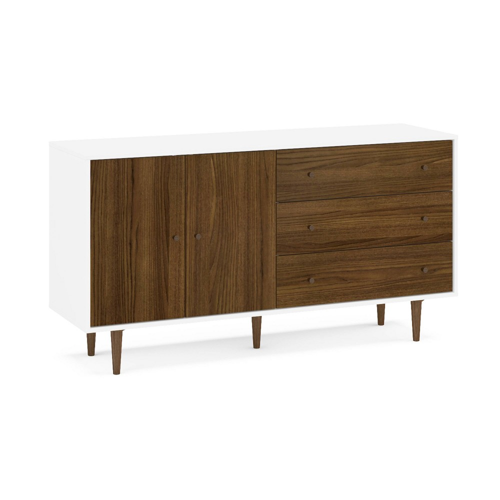 Image of Naples Side Board White/Dark Brown - Chique, White Brown