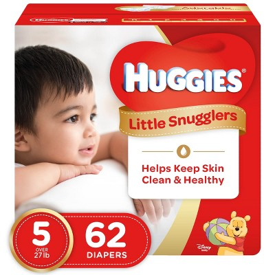 Huggies Little Snugglers Diapers - Size 5 (62ct)
