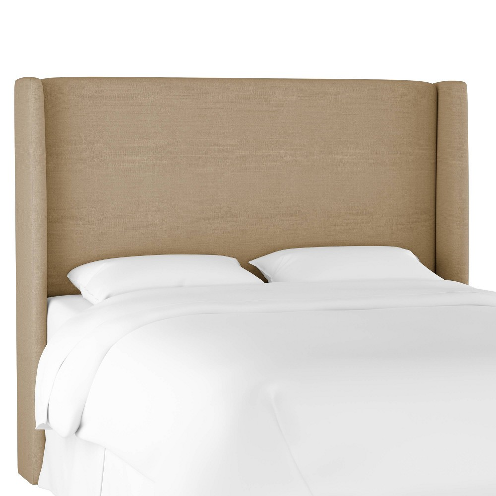 Full Antwerp Wingback Headboard Tan Linen - Project 62