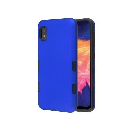 MYBAT Tuff Hard Hybrid Titanium TPU Case For Samsung Galaxy A10e - Blue/Black